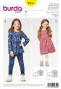 9350  Burda Pattern: Childs Tunic and Dress